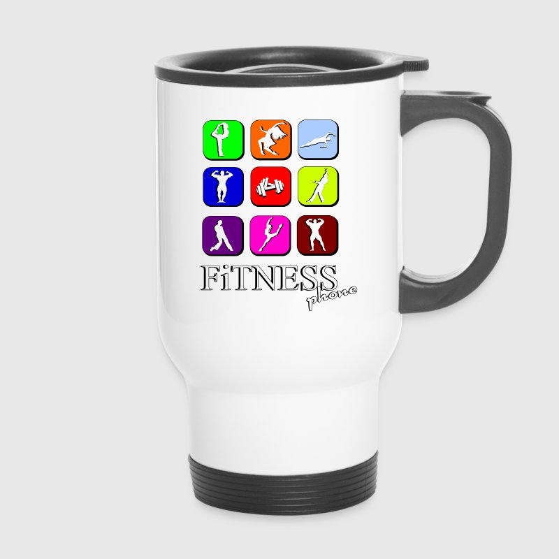Fitness phone Bouteilles et tasses - Mug thermos