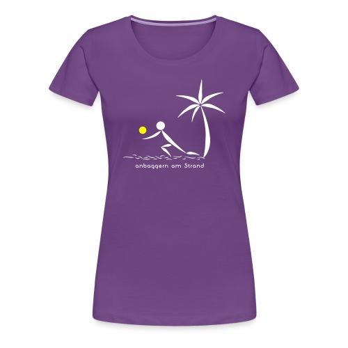 Volleyballshirt Strand Bagger Frauen - Frauen Premium T-Shirt
