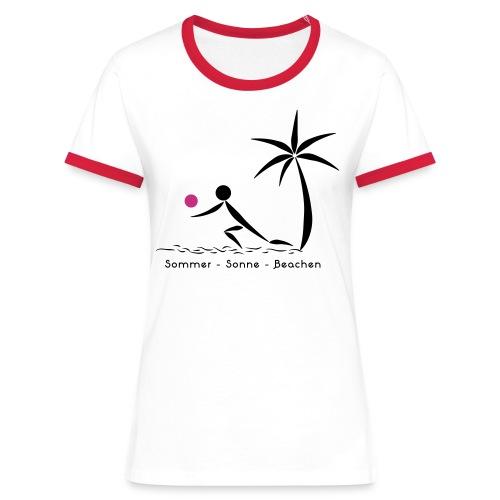 Volleyballshirt Strand Bagger Frauen - Frauen Kontrast-T-Shirt