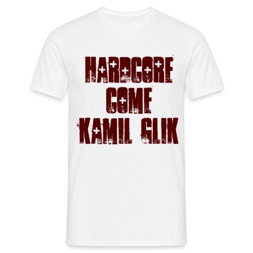 HARDCORE COME KAMIL GLIK T-Shirt Uomo scritta granata - Maglietta da uomo