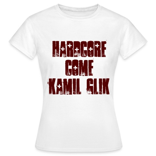 HARDCORE COME KAMIL GLIK T-Shirt Donna scritta granata - Maglietta da donna