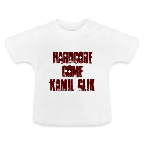 HARDCORE COME KAMIL GLIK T-Shirt Neonato scritta granata - Maglietta per neonato