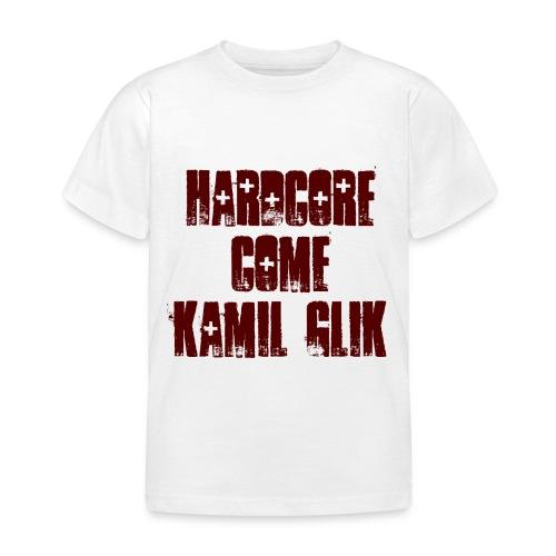 HARDCORE COME KAMIL GLIK T-Shirt Bambino scritta granata - Maglietta per bambini
