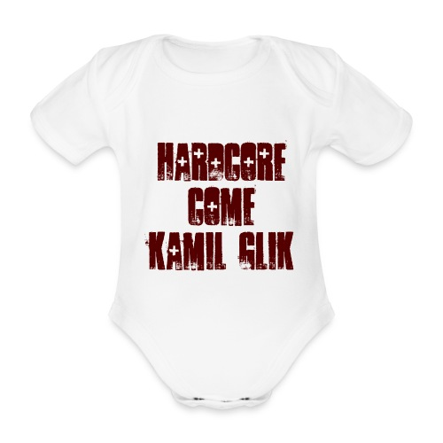 HARDCORE COME KAMIL GLIK Body Neonato scritta granata - Body ecologico per neonato a manica corta