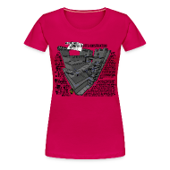 T-shirts ~ Premium-T-shirt dam ~ Jacobs simpla slotts-konstruktion