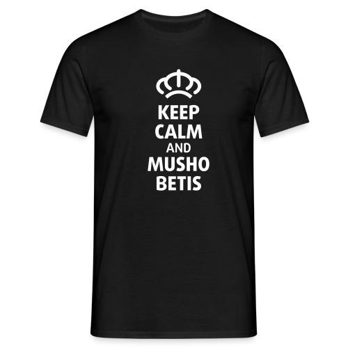 Keep Calm Negra y blanca - Camiseta hombre