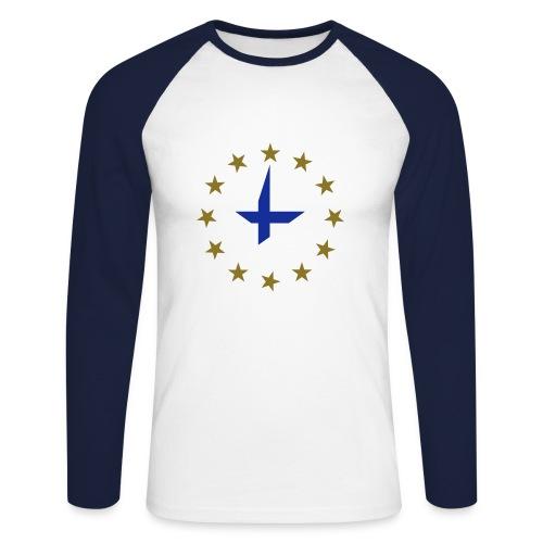 77-90 - Men's Long Sleeve Baseball T-Shirt