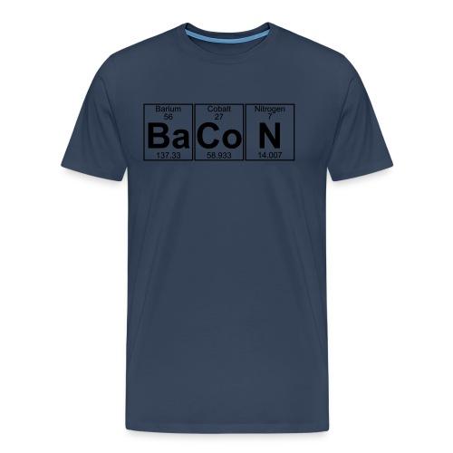 Barium.Cobalt.Nitrogen=Bacon - Herre premium T-shirt