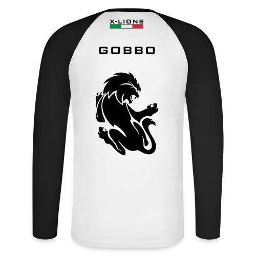 Shirt Cotone, Gobbo white - Maglia da baseball a manica lunga da uomo