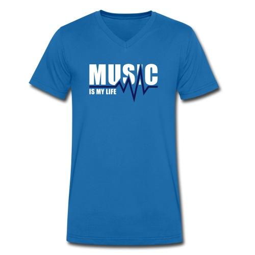 He.T-Shirt Music V-Kragen - Männer Bio-T-Shirt mit V-Ausschnitt von Stanley & Stella
