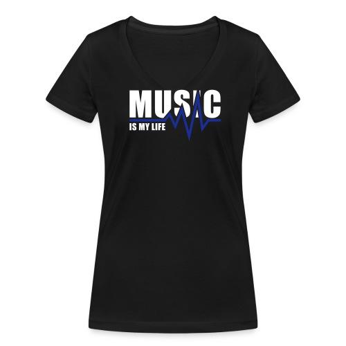 Da.T-Shirt Music V-Kragen - Frauen Bio-T-Shirt mit V-Ausschnitt von Stanley & Stella