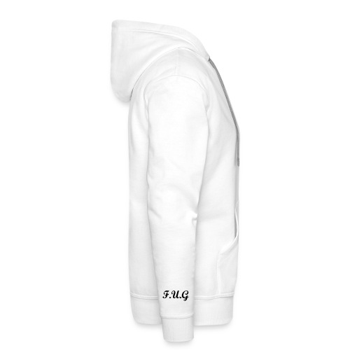 WHITE F.U.G hooded jumper - Men's Premium Hoodie
