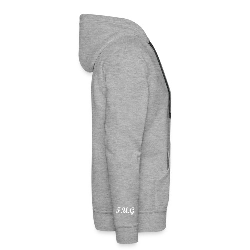 GREY F.U.G hooded jumper - Men's Premium Hoodie