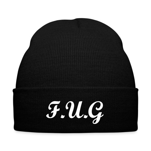 BLACK F.U.G beanie - Winter Hat