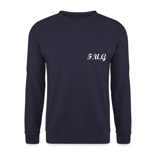 Men's NAVY back logo F.U.G sweatshirt  - Men's Sweatshirt