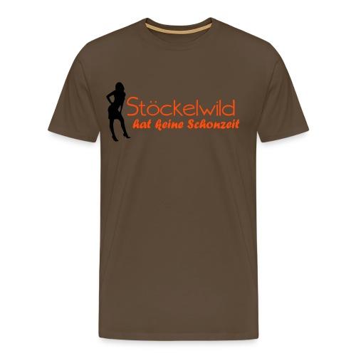Stöckelwild braun/orange horizontal - Männer Premium T-Shirt