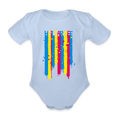 Heilsarmee Kids - Streifen - Baby Bio-Kurzarm-Body