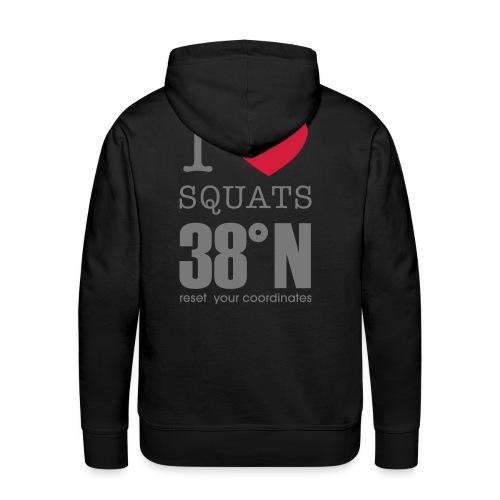I love squats hoodie - Men's Premium Hoodie