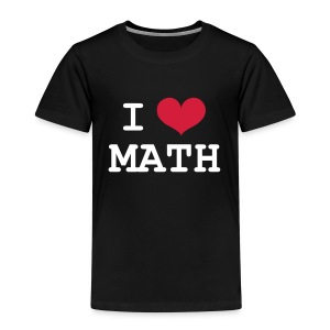 I Love Math Skjorter - Premium T-skjorte for barn