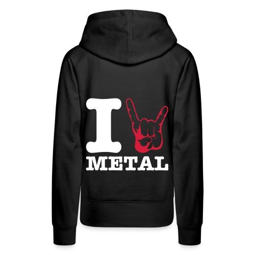 I love Metal  Girl sweatshirt - Women's Premium Hoodie