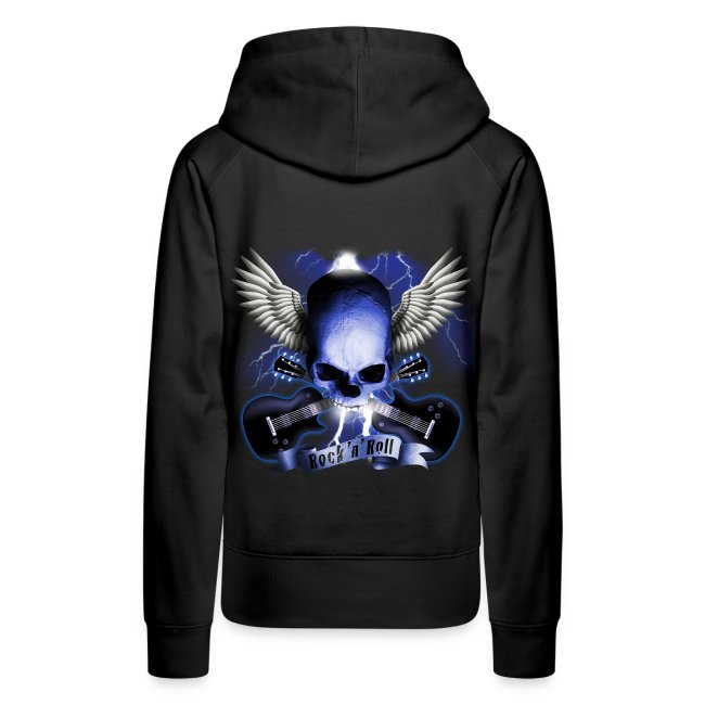 9a0a2dd8f MetalRockShop   Rock N Roll Girl sweatshirt - Women's Premium Hoodie