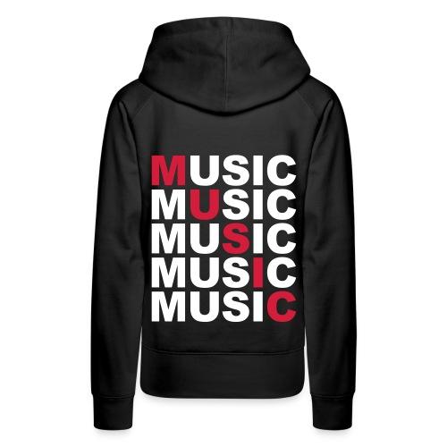 Music Girl sweatshirt - Women's Premium Hoodie