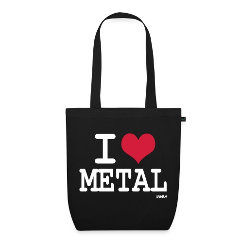 I love Metal Bag - EarthPositive Tote Bag