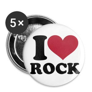 I love rock brooches - Buttons small 25 mm