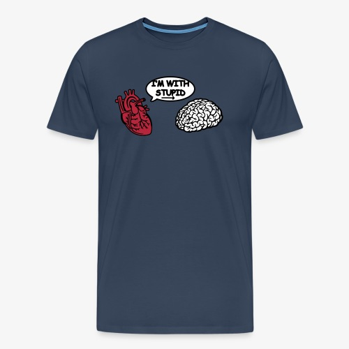I'm with Stupid Herz zu Gehirn - Männer Premium T-Shirt