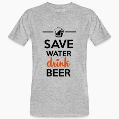 Alkoholi Fun Shirt - Save Water drink Beer T-paidat