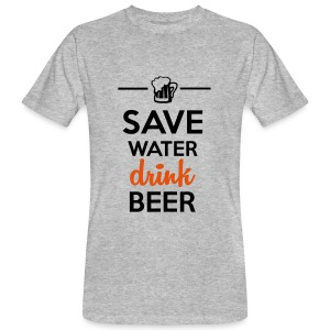 Alkohol Funshirt - Save Water drink Beer Magliette - T-shirt ecologica da uomo
