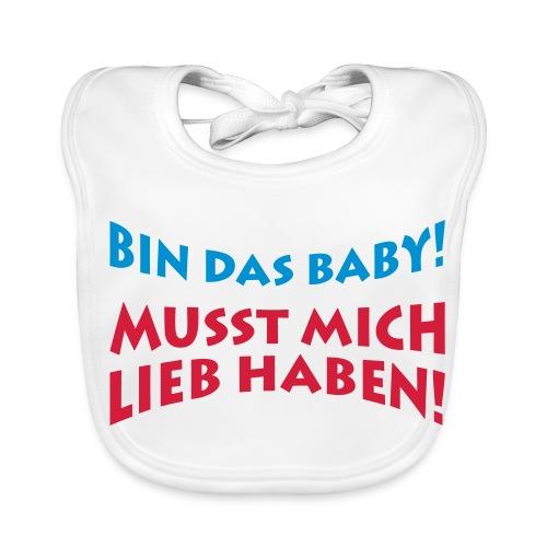 Lätzchen mit Spruch - Baby Bio-Lätzchen