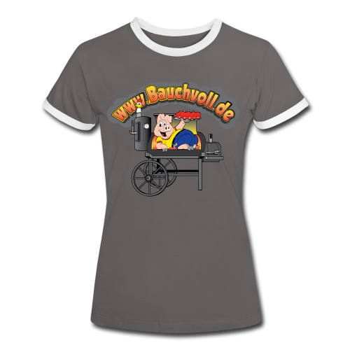 Shirt für die Damen - Frauen Kontrast-T-Shirt