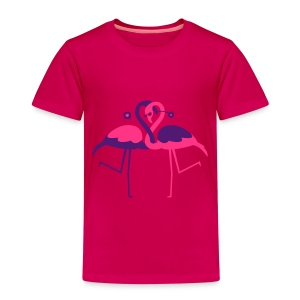 Two Flamingos in love - Kids' Premium T-Shirt