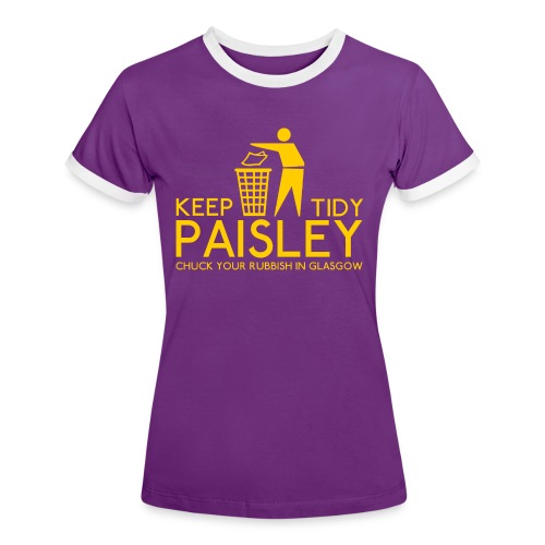 Keep Paisley Tidy - Women's Ringer T-Shirt