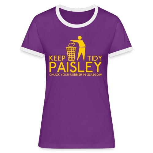 Keep Paisley Tidy - Women's Ringer T-Shirt