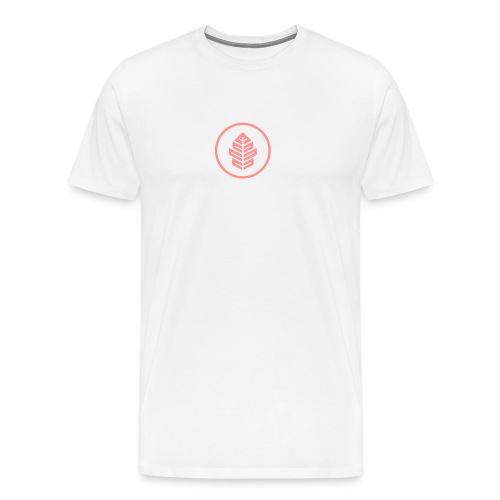 Ideskogen hvit med farget logo - Premium T-skjorte for menn