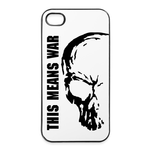Cover iPhone 4/4S THIS MEANS WAR - Custodia rigida per iPhone 4/4s