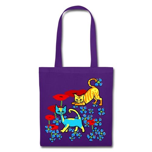 Sac shopping - chatons fleurs - Tote Bag
