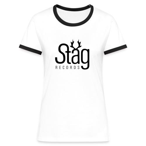 STG-LOGO girl blk - Women's Ringer T-Shirt