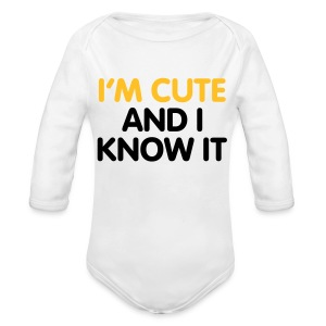 Cute baby all in one - Organic Longsleeve Baby Bodysuit