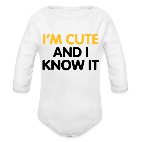 Cute baby all in one - Organic Longsleeve Baby Bodysuit
