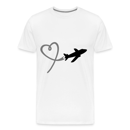 Loving airplane woman - Men's Premium T-Shirt