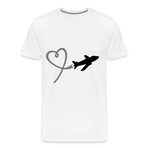 Loving airplane woman - Men's Premium T-Shirt