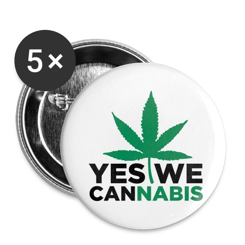 YES WE CANnabis - Buttons groß 56 mm