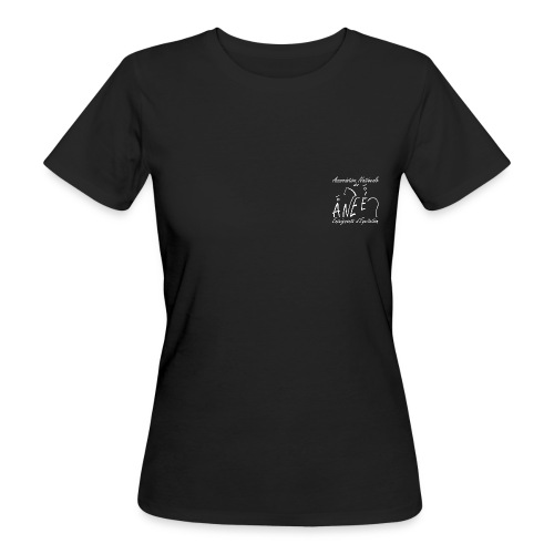T-shirt femme bio, logo blanc - T-shirt bio Femme