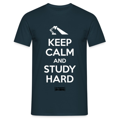 Keep calm and study hard - Maglietta da uomo