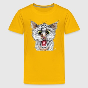 Happy Cat - Teenager premium T-shirt