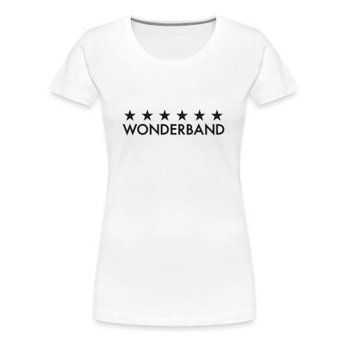 Premium-T-shirt dam - Glittrande tryck