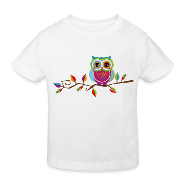 Owl sitting on a branch Shirts